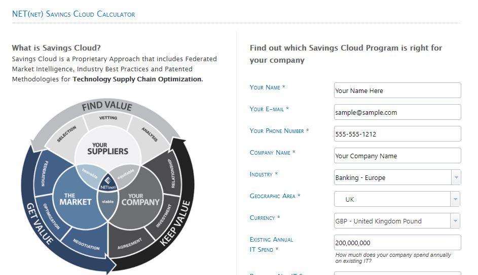 savings cloud calculator v2